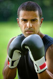 Male boxer outdoors Royalty Free Stock Photos