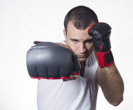 Male boxer punching Stock Image
