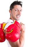 Male boxer Stock Images