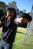 Male boxer training Royalty Free Stock Photos
