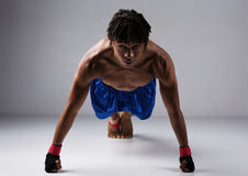 Male boxing fighter Stock Photo