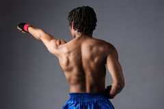 Male boxing fighter Royalty Free Stock Image