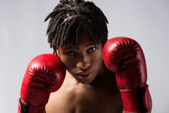 Male boxing fighter Royalty Free Stock Photos