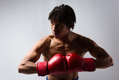 Male boxing fighter Royalty Free Stock Photography