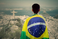 Male brazilian fans Royalty Free Stock Images