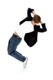 Male Breakdancer. Young male breakdancer in action royalty free stock photo