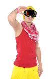 Male breakdancer Royalty Free Stock Photography