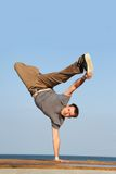 Male breakdancer Royalty Free Stock Images