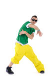 Male breakdancer dancing Royalty Free Stock Photos
