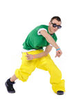 Male breakdancer dancing Stock Photography