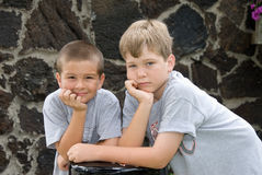Male brothers posing Stock Image