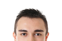 Male brown eyes Royalty Free Stock Images