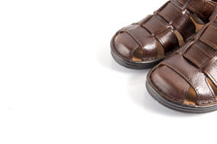 Male Brown Sandal, Top View. Stock Images