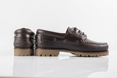 Male Brown Shoe, Top View. Royalty Free Stock Photo