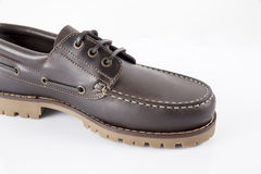 Male Brown Shoe, Top View. Stock Photos