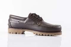 Male Brown Shoe, Top View. Stock Photography