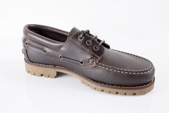 Male Brown Shoe, Top View. Royalty Free Stock Images
