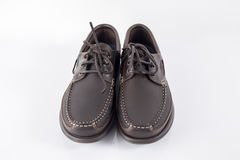Male Brown Shoe, Top View. Royalty Free Stock Photos