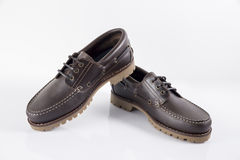 Male Brown Shoe, Top View. Stock Image