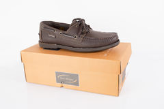 Male Brown Shoes Royalty Free Stock Images