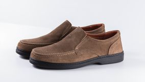 Male brown shoes leather stock footage