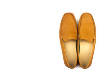 Male brown shoes Stock Images