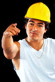 Male builder pointing Royalty Free Stock Photo