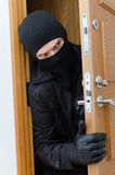 Male burglar in mask Stock Images