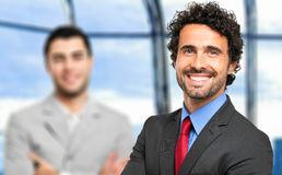 Male business partners in the office Royalty Free Stock Photo