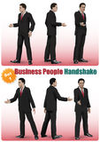 Male Business People Handshake Set Royalty Free Stock Images
