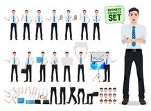 Free Male Business Person Vector Character Creation Set With Office Man Talking Royalty Free Stock Photo - 134088115