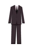 Male business suit, design elements Stock Image