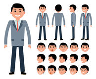 Male businessman character constructor for different poses. Stock Images