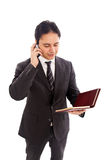 MALE BUSINESSMAN - PHONE Royalty Free Stock Photography