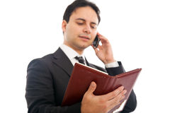 MALE BUSINESSMAN - PHONE Stock Photography