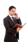 MALE BUSINESSMAN - PHONE Stock Photo