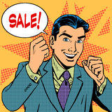 Male businessman sale sales discount store shopping Royalty Free Stock Images