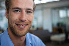 Male businesswoman smiling at camera Royalty Free Stock Image