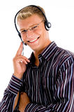 Male Busy With Friendly Communication Stock Image