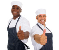 Male butchers thumbs up Stock Images