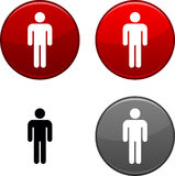 Male button. Royalty Free Stock Photo