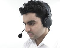 Male call centre executive Stock Images