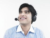 Male call centre executive Stock Image