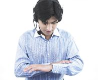 Male call centre executive Royalty Free Stock Photo