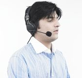 Male call centre executive Royalty Free Stock Image