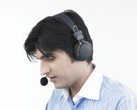 Male call centre executive Stock Photos