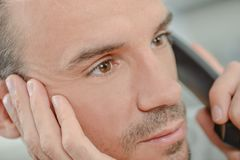 Male call centre worker. Adult Stock Photography