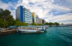 Male' - capital of Maldives. The face of capital city of Maldives. Seafront place Royalty Free Stock Photos