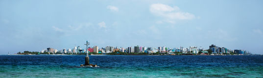Male the capital of Maldives. Panorama of Male the capital of Maldives Stock Photo