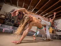 Male Capoeira Performers Royalty Free Stock Image